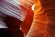 Sandstone Formation Prints - Shades of red - Antelope Canyon AZ Print by Christine Till