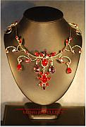 Metal Jewelry - Shades of Red and Amethyst Necklace by Janine Antulov