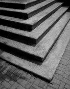 Stone Steps Prints - Shadow and Steps Print by Perry Webster