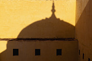 Hindi Metal Prints - Shadow Cast on the Amber Fort Metal Print by Inti St. Clair