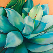 Agave Paintings - Shadow Dance 5 by Athena  Mantle