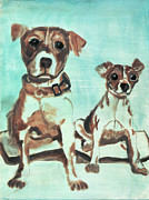 Paws Painting Originals - Shadow Dogs by Terry Lewey