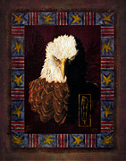 Feather Painting Acrylic Prints - Shadow Eagle Acrylic Print by JQ Licensing