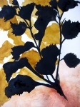 White Red And Yellow Prints - Shadow Hibiscus Print by Lil Taylor
