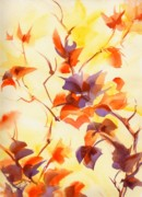 Summer Celeste Painting Posters - Shadow Leaves Poster by Summer Celeste