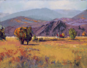 States Pastels - Shadow Mountain Ranch by Dennis Rhoades