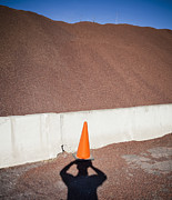 Gravel Road Photos - Shadow of a Photographer Taking Picture by Paul Edmondson