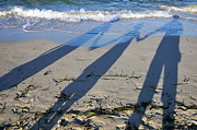 Bonding Metal Prints - Shadow of family holding hands Metal Print by Sami Sarkis