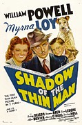 1940s Poster Art Framed Prints - Shadow Of The Thin Man, Myrna Loy Framed Print by Everett