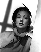 Trenchcoat Prints - Shadow On The Wall, Ann Sothern, 1950 Print by Everett