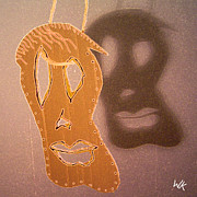 Wall Mask Mixed Media - Shadow On The Wall by Wolfgang Karl