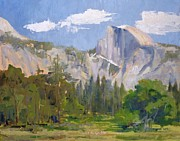 Half Dome Painting Prints - Shadow Over Half Dome Print by Sharon Weaver