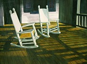 Rocking Chairs Originals - Shadow Play by Leslie Bookout
