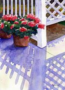 Porch Painting Originals - Shadow Play by Marsha Elliott