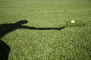 Tennis Racket Prints - Shadow playing tennis Print by Mats Silvan