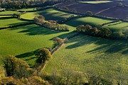 Casting Photos - Shadows Across Fields, Devon, Uk by Dr Keith Wheeler