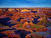 Canyons Painting Prints - Shadows and Breezes Print by Johnathan Harris