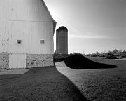 Barn And Silo Prints - Shadows at Eble Park Print by Jan Faul