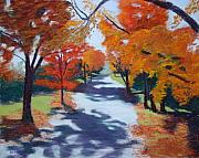 Fall Pastels - Shadows Fall by Marion Derrett