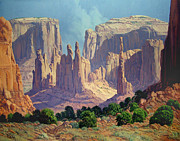 John Wayne Paintings - Shadows In The Valley by Randy Follis