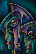 Distorted Painting Posters - Shadows Poster by Michael Lang