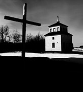 White Snow Acrylic Prints - Shadows of the Bell Tower Acrylic Print by Jerry Cordeiro
