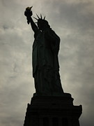 Libertas Prints - Shadowy Statue of Liberty Print by Kelsey Horne