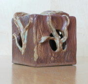 Light Ceramics - Shadowy Tree Box by Katrina  Larock