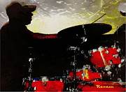 Gigs Art - Shady Drummer by Sadie Reneau