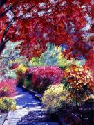 Pathway Paintings - Shady Garden Path by David Lloyd Glover