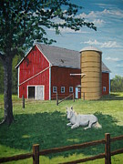 Pasture Painting Posters - Shady Rest Poster by Norm Starks