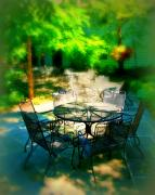 Dine Prints - Shady table Print by Perry Webster
