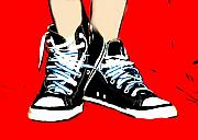 Sneakers Digital Art Prints - Shaes Sneaks Print by Lynn Reid