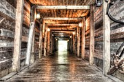 Mineshaft Wood Framed Prints - Shafted Framed Print by Michael Garyet