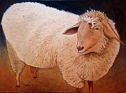 Scott Plaster Paintings - Shaggy Sheep by Scott Plaster