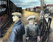 Working Class Prints - Shahn: Three Men Print by Granger