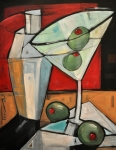 Bistro Paintings - Shaken Not Stirred by Tim Nyberg
