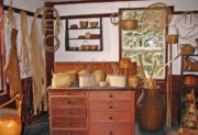 Antiquated Prints - Shaker Basket Weaving Shop Print by Steve Ohlsen