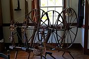 Shaker Photos - Shaker Spinning Wheels by Lone  Dakota Photography