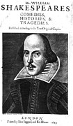 1st Edition Posters - Shakespeare: Folio, 1623 Poster by Granger