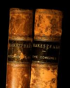 Bound Framed Prints - Shakespeare Leather Bound Books Framed Print by The Irish Image Collection