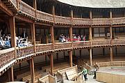 Open Air Theater Photo Posters - Shakespeares Globe Theater C378 Poster by Charles  Ridgway