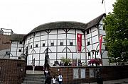 Open Air Theater Photo Posters - Shakespeares Globe Theater Poster by Charles  Ridgway