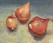 Impressionism Acrylic Prints Digital Art - Shallots by Scott Bennett