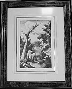 Original Lithographs Drawings - Shallow Creek F.32 by Thomas Hart Benton