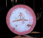 Drums Paintings - Shaman Drum by Kathryn Gordon