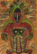 Shaman Says Walk Softly And Carry A Big Schtik Print by Anne-Elizabeth Whiteway