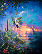Datura Painting Prints - Shamans Dream Print by Keith Stillwagon
