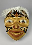 Shaman's Mask Print by Gary Dean Mercer Clark