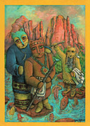 Red Rock Crossing Painting Prints - Shamans of Sedona  Print by Janice Hightower